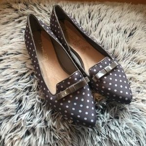 Restricted Polka Dot Pointed Toe Flat